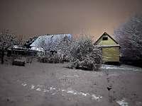 Chata Harta v zimě. - pronájem Mezina