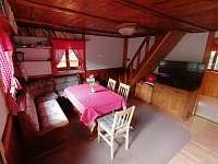 Obývací pokoj - pronájem chaty Dolní Bušínov