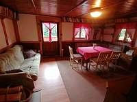 Obývací pokoj - chata ubytování Dolní Bušínov