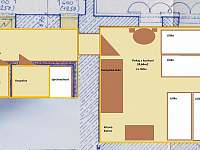 apartmán č.2 v přízemí 4x lůžko