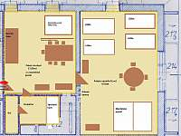 apartmán č.3 s balkónem v patře - 8x lůžko ( místnosti jsou průchozí )