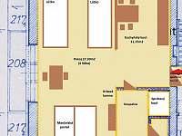 apartmán č.4 v patře s balkónem 4x lůžko