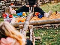 Hřiště pro děti i dospělé - chata k pronajmutí Kouty nad Desnou