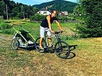 Možnost zapujčení vozíku za kolo - Kouty nad Desnou