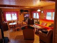 Společenská místnost - pronájem chaty Kouty nad Desnou