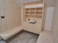 odpočinková zóna k sauně - Filipovice