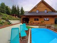 Bazén s chalupou - ubytování Velké Losiny