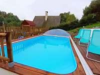 Zastřešený bazén - chalupa k pronájmu Velké Losiny