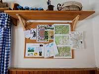 Mapky a info - chalupa k pronájmu Stará Voda