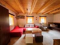 Obývací pokoj - chalupa k pronajmutí Stará Voda