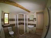 Koupelna s toaletou - pronájem chalupy Lipová-lázně
