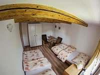 Ložnice se dvěma lůžky - chalupa ubytování Lipová-lázně