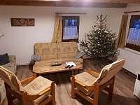 Obývací pokoj na Vánoce - chalupa ubytování Lipová-lázně