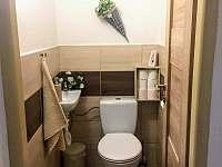 Samostatná toaleta - chalupa k pronajmutí Lipová-lázně