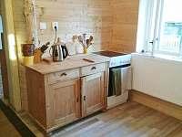 kuchyň - chalupa ubytování Karlovice - Zadní Ves