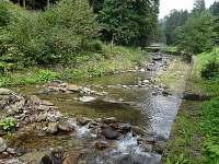 Kouty léto řeka - chata ubytování Kouty nad Desnou