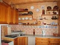 Kuchyň - chalupa ubytování Olšany