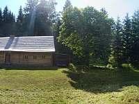 panoramatický snímek chaty