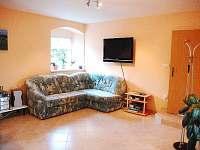 pohovka a TV - pronájem apartmánu Stará Červená Voda
