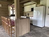 Společenská místnost s kuchyní - pronájem chalupy Velké Vrbno