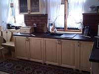 obytná kuchyň - chalupa ubytování Třemešná ve Slezsku