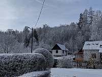 okolí chaty v zimě - ubytování Stará Voda