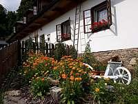 Rozkvetlá zahrada. - chalupa ubytování Štědrákova Lhota