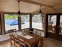 Zimní zahrada - spodní apartmán - ubytování Stará Voda