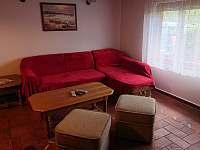 obývací pokoj - pronájem chaty Zlaté Hory