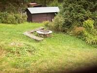 venkovní ohniště - pronájem chaty Malá Morávka