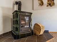 Chalupa Vernířovice obývací pokoj - k pronajmutí