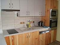Moderní spotřebiče v kuchyni snů - chata ubytování Horní Orlice