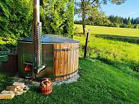 Než seberete houby naproti v lese, tak se Vám to nahřeje - chata ubytování Horní Orlice