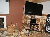 Pojízdné TV, karaoke (nutný vlastní notebbok s internetem) - chata k pronajmutí Horní Orlice