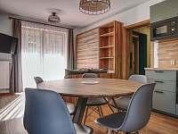 obývací pokoj s kuchyňským koutem - apartmán k pronajmutí Filipovice