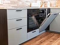 vestavná myčka nádobí - apartmán k pronájmu Filipovice