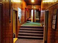 chodba pokojů - chalupa ubytování Rejvíz