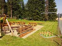 zahrada - chalupa ubytování Rejvíz