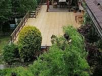 Bydlinská zahrádka - pohled na objekt, ve kterém jsou apartmány - ubytování Šternberk - Těšíkov