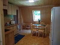 Jídelna v horním apartmánu - pronájem chalupy Holčovice - Spálené