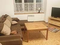 Obývací prostor spodního apartmánu - chalupa k pronajmutí Holčovice - Spálené