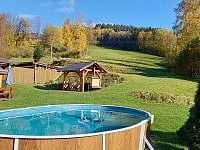 Bazén 6x3,5m - chalupa k pronajmutí Vernířovice