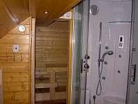 Koupelna 1, sauna - pronájem chalupy Vernířovice