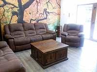 Černá Perla - stodola otevřený obývací pokoj s kuchyní -