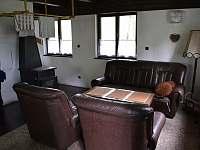 Obývací část - chalupa k pronájmu Heřmanovice