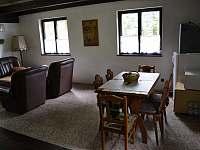 Pohled od kuchyňky - chalupa ubytování Heřmanovice