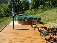 detail bazénu - chata k pronájmu Stříbrnice