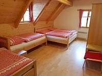 pokoj č. 3 - v patře - čtyřlůžkový - pronájem chalupy Vernířovice