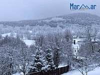 Výhled z okna penzionu - Kunčice