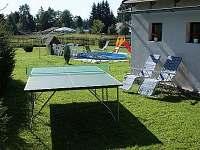 BOD Dvorek se stolem na stolní tenis - chalupa k pronájmu Rýmařov